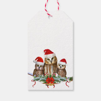 MERRY CHRISTMAS FROM OWL OF US! GIFT TAGS