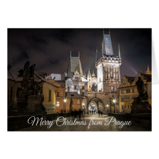 Merry Christmas from Prague Card