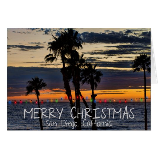 Merry Christmas from San Diego, California Card