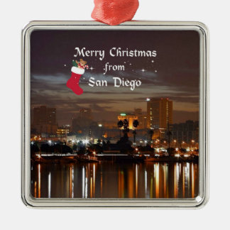 Merry Christmas from San Diego Christmas Ornament