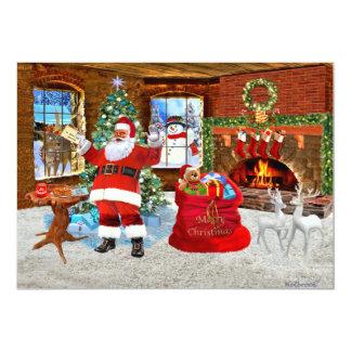 Merry Christmas from Santa 13 Cm X 18 Cm Invitation Card