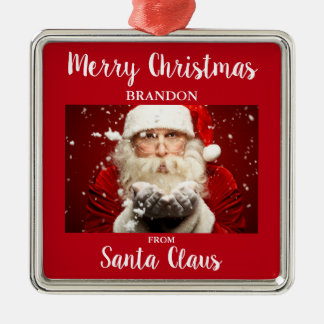 Merry Christmas From Santa Claus ADD NAME Christmas Ornament