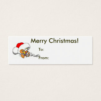 Merry Christmas From Santa Mouse Tag Mini Business Card