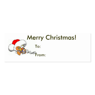 Merry Christmas From Santa Mouse Tag Pack Of Skinny Business Cards