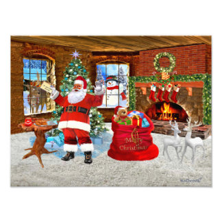 Merry Christmas from Santa Photo Print