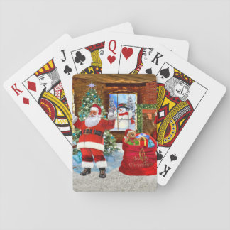 Merry Christmas from Santa Playing Cards