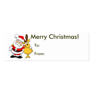 Merry Christmas From Santa Tag Pack Of Skinny Business Cards