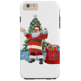 Merry Christmas from Santa Tough iPhone 6 Plus Case
