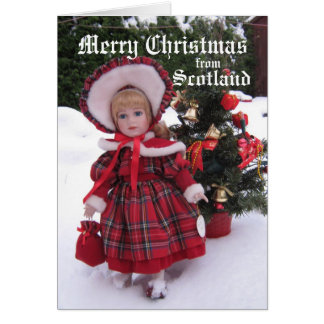 Merry Christmas from Scotland                  ... Card