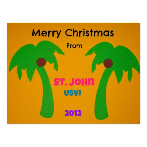 Merry Christmas from St. John 2012 Postcards