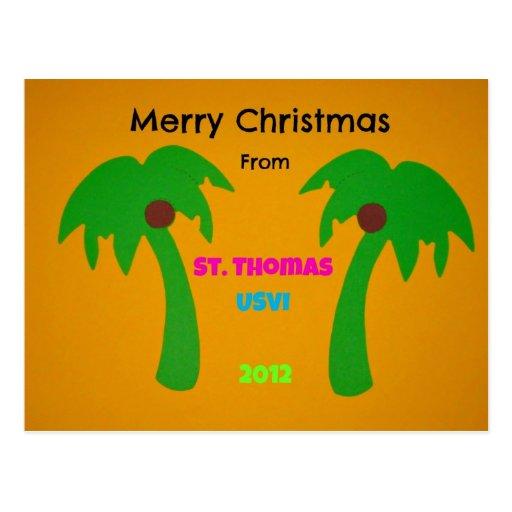 Merry Christmas from St. Thomas USVI 2012 Post Card