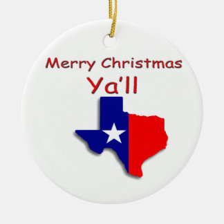 Merry Christmas From Texas Ornament