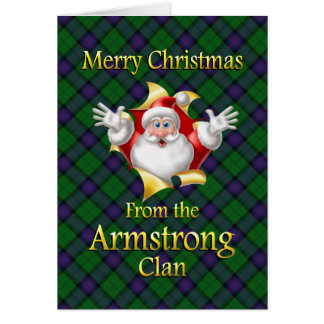 Merry Christmas From the Armstrong Clan Card