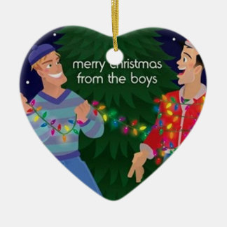 Merry Christmas From The Boys Christmas Ornament