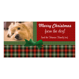 Merry Christmas from the Dog Custom Customised Photo Card