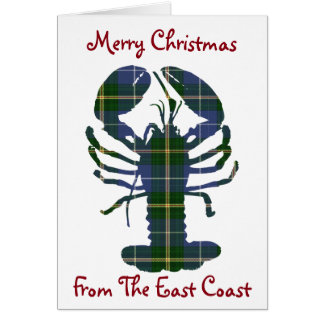 Merry Christmas from the East Coast lobster Card