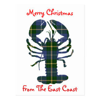 Merry Christmas from the  East Coast postcard