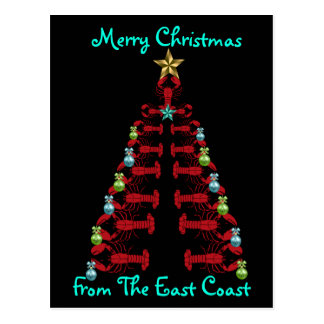 Merry Christmas from the  EastCoast postcard