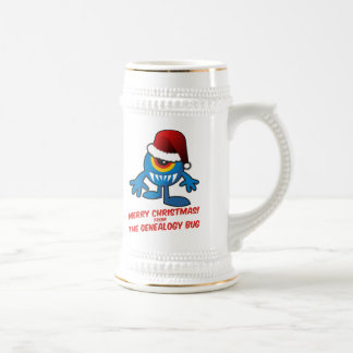 Merry Christmas! From The Genealogy Bug Beer Stein