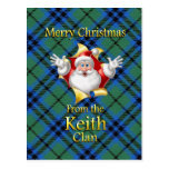 Merry Christmas From the Keith Clan Postcard