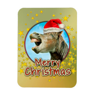 Merry Christmas from the laughing horse Magnet