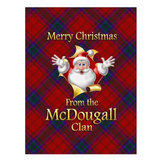 Merry Christmas From the McDougall Clan Postcard