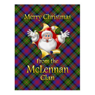 Merry Christmas From the McLennan Clan Postcard