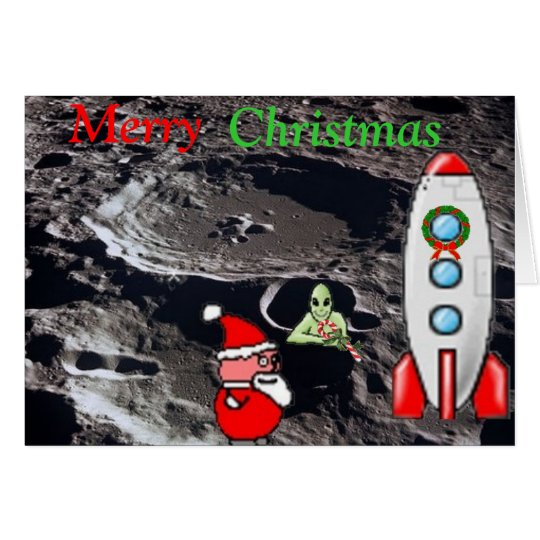 Merry Christmas from the Moon Card