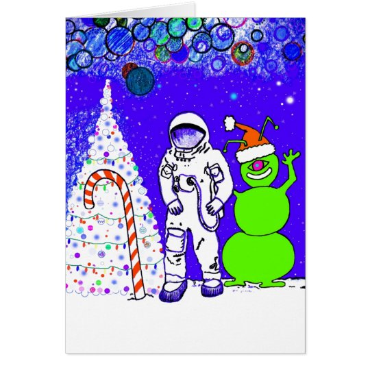 Merry Christmas From The Moon ! Card