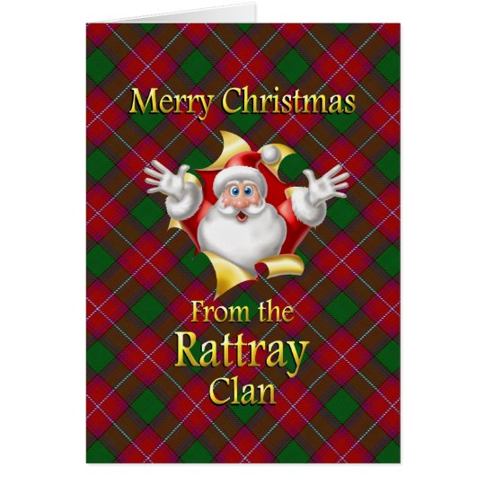 Merry Christmas From the Rattray Clan Card