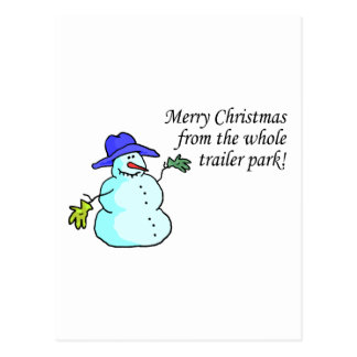 Merry Christmas From The Whole Trailer Park 2 Postcard