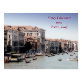 Merry Christmas from Venice, Italy Postcard