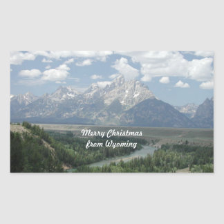 Merry Christmas from Wyoming Rectangular Sticker