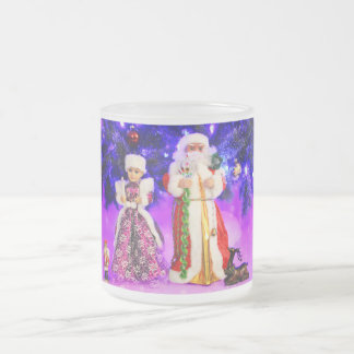 Merry Christmas Frosted Glass Mug