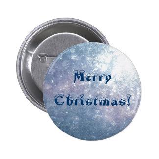 Merry Christmas - Frozen Glass Button