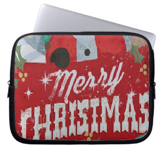 Merry Christmas funda_10 Laptop Sleeve
