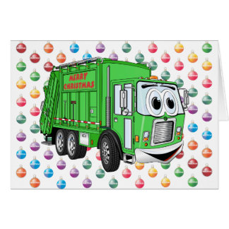 Merry Christmas Garbage Truck Card