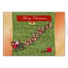 Merry Christmas gardener lawn care landscape Card