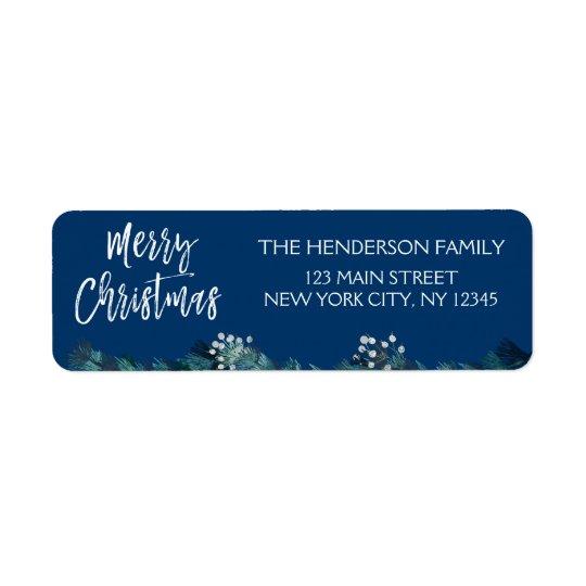 Merry Christmas Garland and Blue Christmas Script