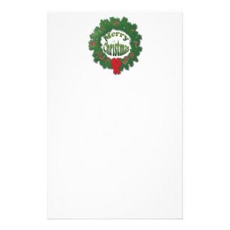 Merry Christmas Garland Stationery