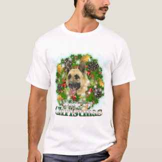 Merry Christmas German Shepherd T-Shirt