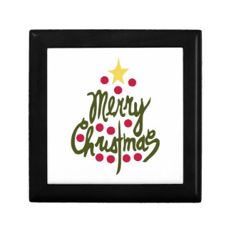 Merry Christmas Trinket Box