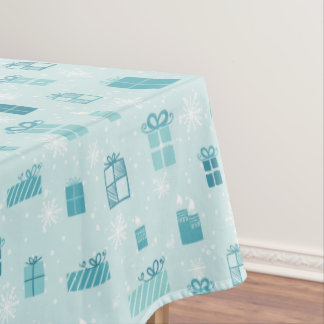 Merry Christmas gift box pattern - winter pattern Tablecloth