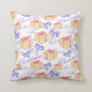Merry Christmas Gift Pattern Cushion