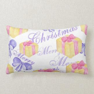 Merry Christmas Gift Pattern Lumbar Cushion