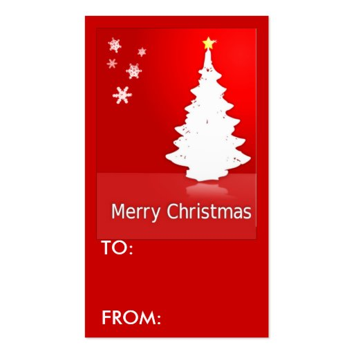 Merry christmas gift tag business card template zazzle for Christmas business card template