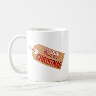 Merry Christmas Gift Tag Coffee Mug