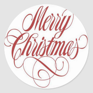 Merry Christmas!  Gift Tag Custom Round Sticker