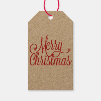 Merry Christmas gift tag (kraft)