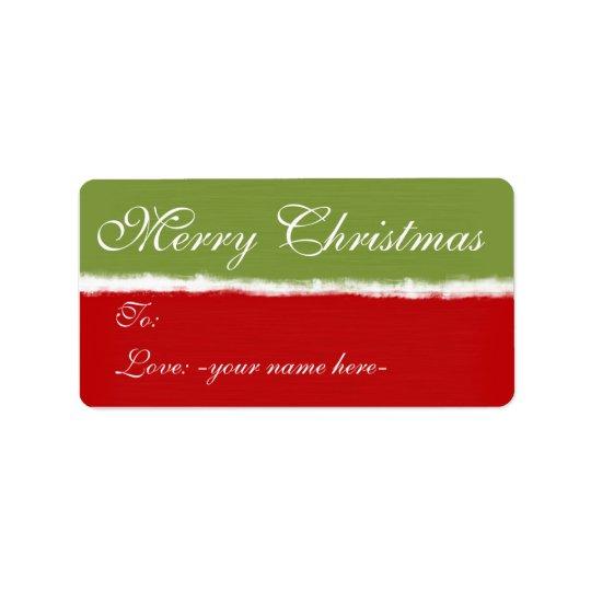Merry Christmas Gift Tags